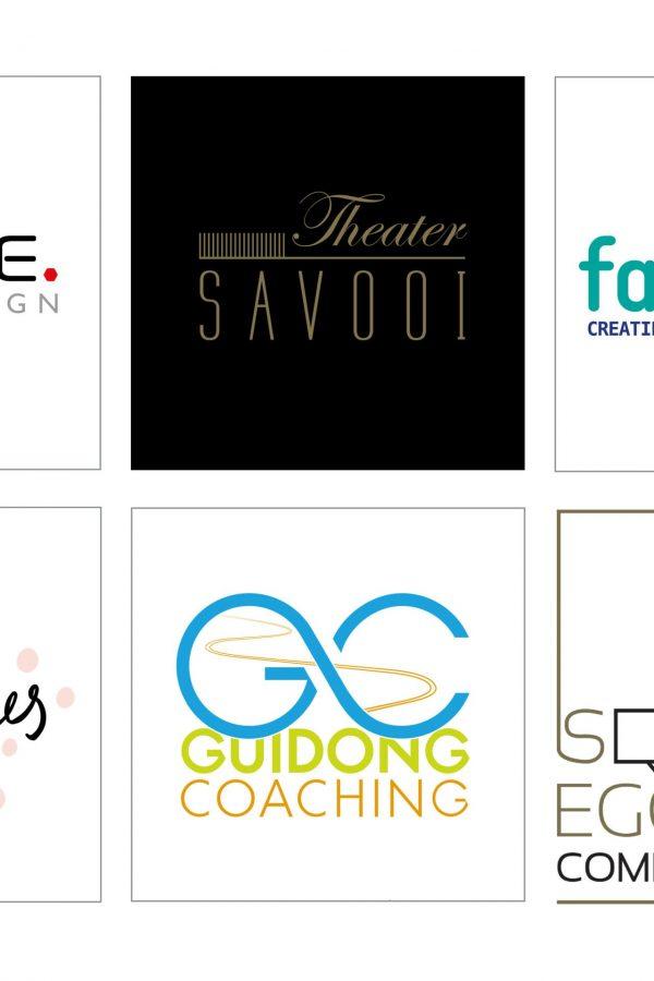 ontwerpen van verschillende logo's voor starters