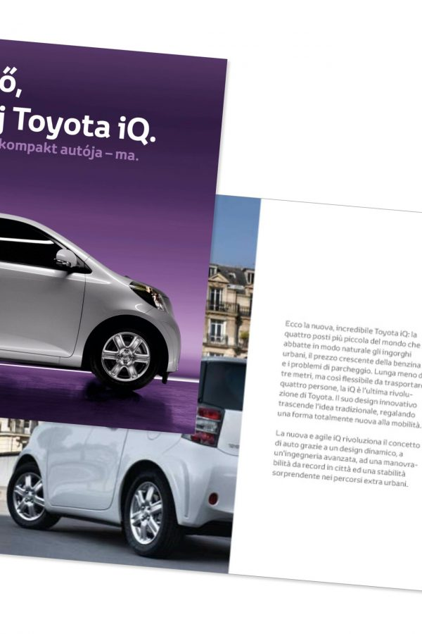 Presskit lancering Toyota iQ