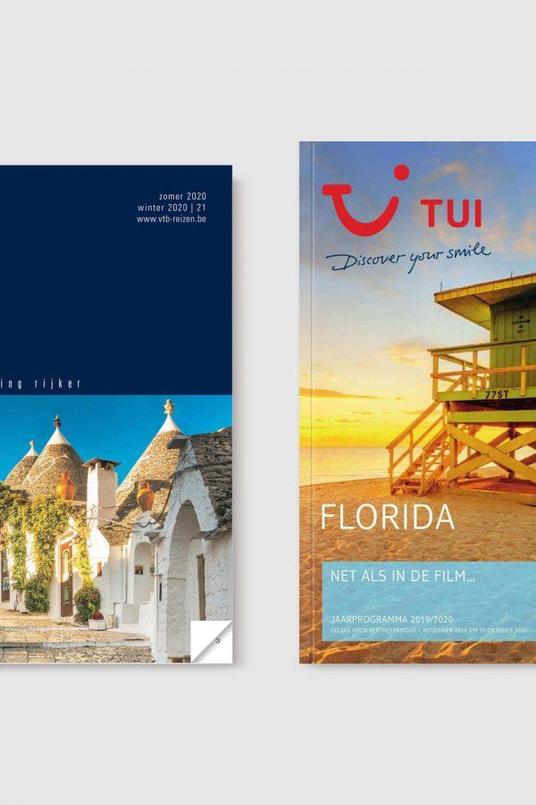 reisbrochures voor VTB en TUI